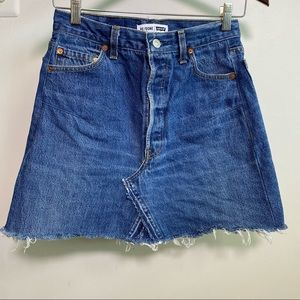 Levi's Re/Done High Rise Mini Denim Skirt